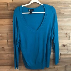 ⭐️ Lane Bryant Blue V Neck Sweater Size 18/20 ⭐️